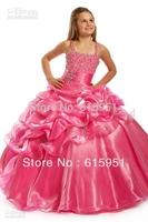 2013 New Beaded Spaghetti Princess Ruffled Ball Gown Flower Girl Dress Little Girsl Pageant Dress JY2173