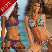 Free Shipping 2014 Holiday Hot Women's Swimsuit, Sexy Lady Push Up Bikini Beachwear, High Waist Bathing Suit NY-0019