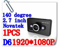 "Free Shipping Newest ! D6 HD 1920x1080P Car Dvr Camera 2.7"" LCD Video Recorder Dashboard Vehicle Camera HDMI"