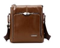 2013 fashion Genuine leather Bag Cowhide Men's antitheft lock Bag Messenger bag Vintage bag for Men 2 colors Gift M440