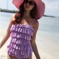 Female swimwear one-piece dress push up beach bikini swimwear