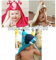 FREE SHIPPING----baby bathroom accessories pretty cartoon bath towel boy/girl bathrobe washcloth children animal facecloth 1pcs
