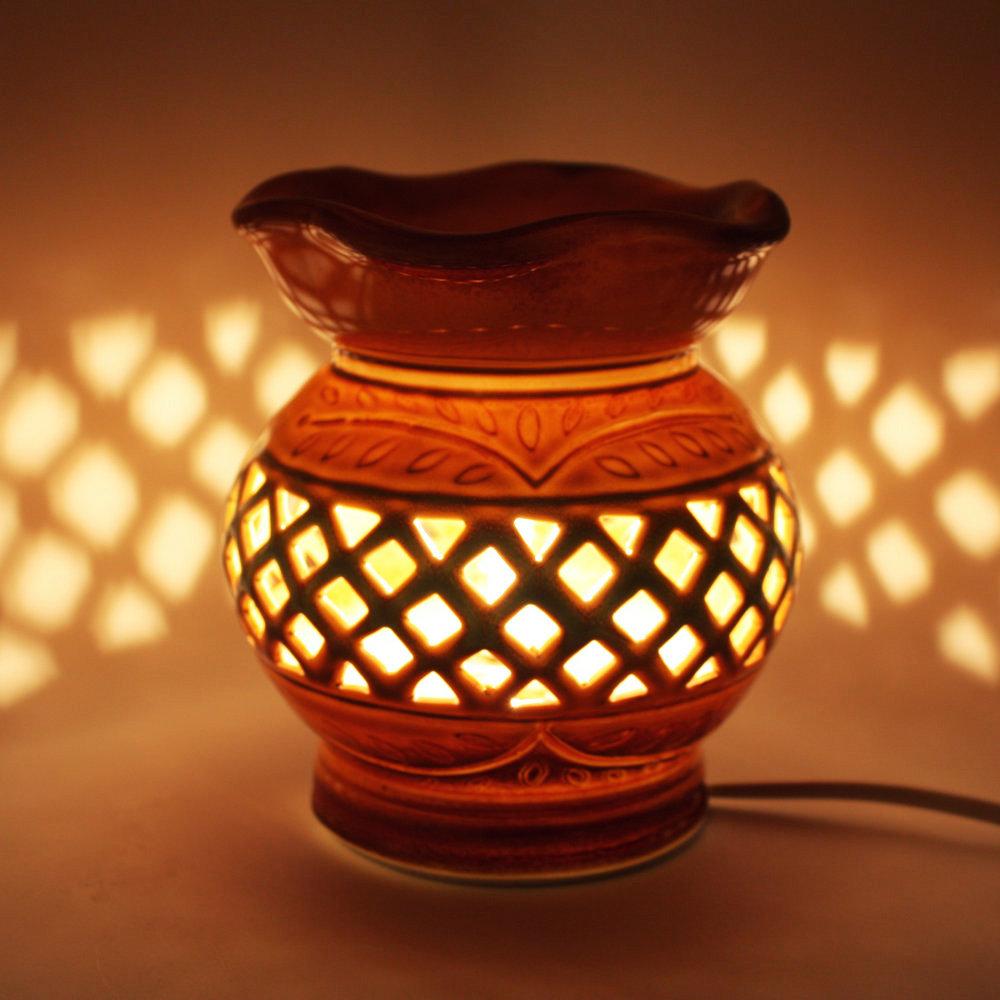 antique ceramic cutout aromatherapy lamp plug aroma lamp. Black Bedroom Furniture Sets. Home Design Ideas