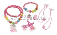 Free shipping!!!Jewelry Sets,Jewelry Brand, Glass, bracelet & earring & necklace, with Resin,  6mm, 10mm, 30x32x6mm, 20x15mm