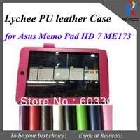 "New Arrival For Asus Memo Pad HD 7 ME173  7"" tablet Top quality PU leather stand case, 7"" Tablet leather cover, 7 color"