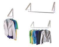 Free shipping 1pcs/lot Folding wall mounted retractable clothes racks indoor balcony bathroom rods hangers towel rack