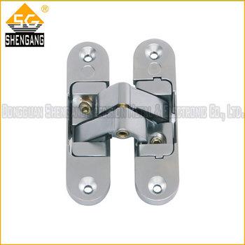 polished chrome hinges