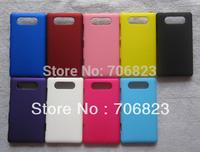 50pcs Free Shipping rubber plastic hard phone case for NOKIA lumia 820 +50pcs screen films