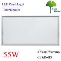 Good Quality 55W LED Panel Light 1200*600MM AC96-265V 2 Years Warranty