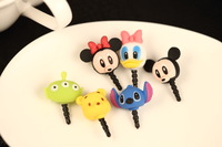 wholesale 50pcs/lot cartoon lovely dust plug for 3.5mm earphones cell phone/phone accessories Free shipping