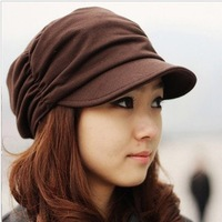 Korean Style Autum Winter New Knit hat Fashion Men And Women pleated Cap