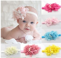 Free shipping,New style flowers headband+10pcs/lot+pearl,childrens hairband,fashion kids hair clip/hair accessories