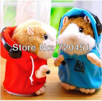 Speak Russian, English, MC DJ Rapper Early Learning Wear Clothes Hamster Talking Toy for Kids Repeat Talking Hamster Toy