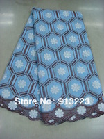 African Swiss Voile Lace High Quality Fabric Free Shipping D1-5
