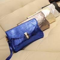 2013 fashion genuine leather day clutch fashion clutch female clutch bag chain one shoulder cross-body bag small
