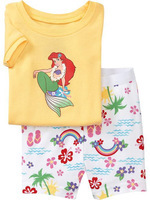 2013 new designs baby girl's brand sleepwear children princess pajamas cotton homewear free shipping