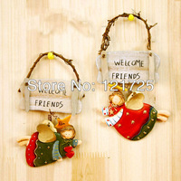 Fashion wool wings rustic furnishings resin decoration small hangings Home decorations Gifts crafts