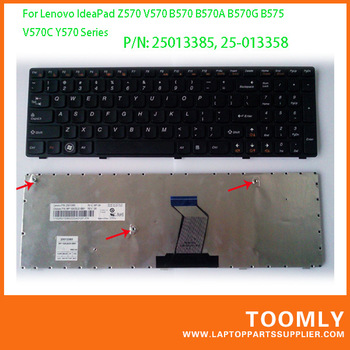 1 Piece Free Shipping Genuine Laptop Keyboard For Lenovo B570 G570 V570 Z570 Y570 Series Laptop P/N: 25013385/25-013358