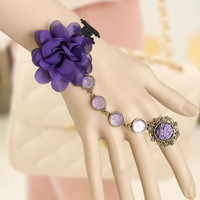 2013 Fashion Gothic  Purple Wedding Vintage Bracelet Rings , Free Shipping