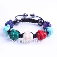 2013 factory latest style crystal bracelet colorful