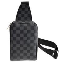 Top Quality ! Men's Women's Plaid Fanny Waist Bag Packs Bag Brown Black Free Shipping