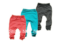 Free shipping 2013 new fashion autumn  100% cotton candy color  kid's  harem pants children's  long casual  harem pants 315