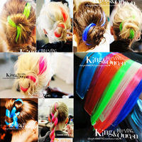 Fashion female singer ds multicolour hair piece avril straight hair piece