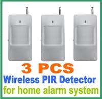 Wireless PIR Sensor 433MHz/315MHz PIR Motion Sensor Detector For Home Security Alarm 3 Pcs/lot