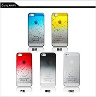 Clear Waterdrop Raindrop Hard Case Compatible with for Apple iPhone 5 5s