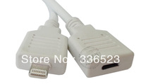FOR apple iPhone5 4s iPad4 Male to Female Extension Cable 22-pin charging full-featured video data Free Shipping