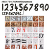 real madrid home orignal font  letter number, spain star name and number ,AC milan home original name &number