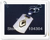 2pcs Renault car Key ring Key Chain,car badge  emblem keychain Renault car key fob free shipping