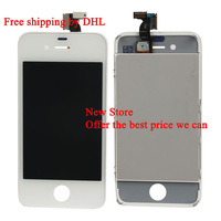 LCD Screen with Touch Screen Digitizer Assembly for Iphone4 Iphone 4 CDMA Verizon Sprint White Free Shipping by DHL