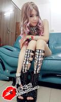 Fashion dj 2ne1 female singer ds costume paillette bandage style