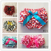 new arrival chevron print  satin baby bloomer with ruffle diaper cover kids bloomer