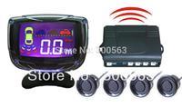 Free shipping wireless parking sensor,4 sensors LCD parking assistance,Parking Reverse Radar
