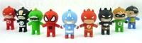 Welcome Mix Superhero USB Drive, Cartoon batman / spiderman / hulk / capitan america USB flash drive, Superhero USB Flash Drive