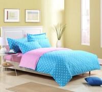 Single double 100% cotton duvet cover 100% cotton solid color polka dot quilt bed sheets pillow case double 100% cotton duvet