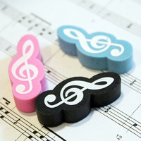 D Free Shipping Stationery Music Note Eraser (Blue/ Pink/ Black) ,Gift for the Children