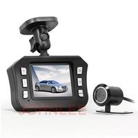 "Full HD 1080P 2.0"" LCD Dual Lens Car DVR Camera Vehicle Video Recorder Cam Black box GPS G-sensor Night Vision Motion Detection"