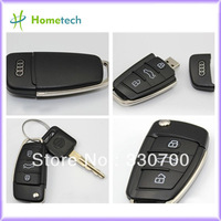 Hot metal AUDI car key USB 1GB 2GB 4GB 8GB 16GB 32GB usb 2.0 AUDI car key usb memory silicone usb flash pendrive Free shipping