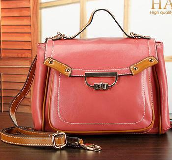 New women's genuine leather handbag 2014 cowhide vintage bag women leather handbags designer brands shoulder messenger bags tote