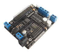 16A Dual-Channel H-bridge Motor driver and Servo driver board for Arduino Nano