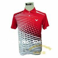free shipping!New 2013 South Korea VICTOR Mens Badminton / Tennis Polo Shirts