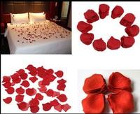 Wholesale 500PCS Dark Red Rose Fake Petals Silk Flowers Table Confetti Wedding Bridal Decorations