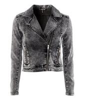 2013Fashion perfect water wash denim long-sleeve short jacket female jacket
