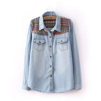 2013 women's high quality fashion denim cardigan