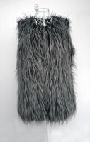 Women's spring vest faux vest medium-long black peacock jacquard vest outerwear