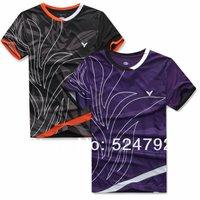 wholesale!New 2012 South Korea Olympic race suit VICTOR Mens Badminton / Tennis Polo Shirts