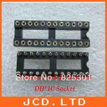 24Pin IC Socket (Machine tool)  Narrow style  /Round pin IC Socket  connector base adaptor